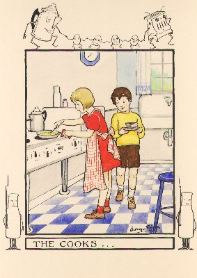 """""""The Cooks,"""" Cheery Chores, n.d."""