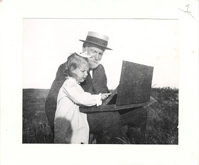 Edith Ballinger Price and grandfather William Trost Richards