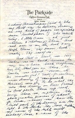 Letter from Elizabeth Orton Jones to her mother, ca. 1940