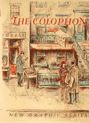 Cover design for The Colophon