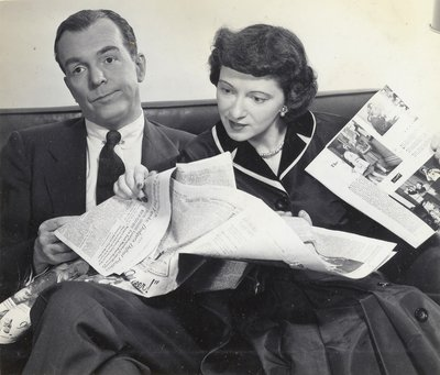 Ethel and Albert Reading the Paper