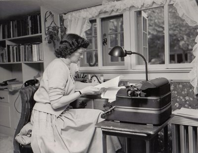 Peg writing 1953